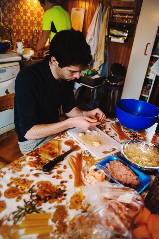 homme cuisine