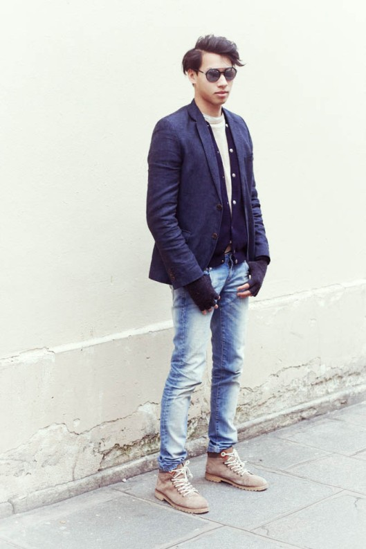 look blazer homme