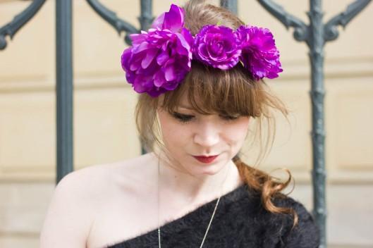 portrait couronne fleurs